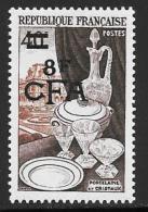 Reunion, Scott # 303 Mint Hinged France # 713 Surcharged, 1954 - Réunion (1852-1975)