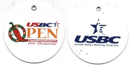 Round Bag Tag From The 2008 USBC Open Championships Tournament In Albuquerque, NM USA - Bowling