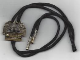 ABC - American Bowling Congress - USA - Brass Slide With Shoe String Tie - Bowling