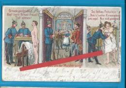C.P.A. Gruss Von Der Musterung - Conseil De Révision... - Humor