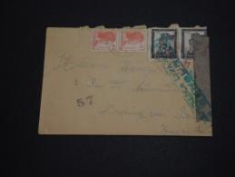 ESPAGNE - Enveloppe Pour La France En 1938 Avec Censure , Affranchissement Plaisant - A Voir - L 699 - Republikanische Zensur