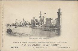 Pub Au Soulier D'Argent à Rouen Sur CP Exposition Universelle De Paris  En 1900 - Expositions