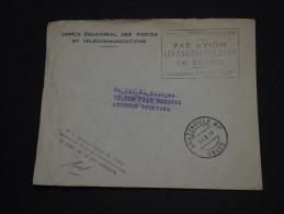 CONGO - Enveloppe De Brazzaville Pour La France En 1962 , Affranchissement Par Avion En Compte  - A Voir - L 719 - Congo - Brazzaville