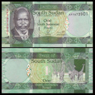 South Sudan 1 Pound 2011 UNC - Südsudan