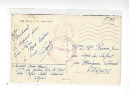 """CACHET """" 24è Compagnie Portée De Légion Etrangère """"  Cad Aïn Sefra 28.5.1956 Sur Cp Oran - Marcophilie (Lettres)"""