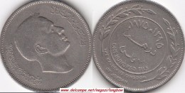 GIORDANIA 100 Fils 1975 KM#19 - Used - Jordanie