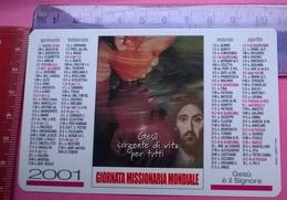 CALENDARIETTO 2001 GIORNATA MISSIONARIA  MONDIALE - Calendari