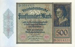 Deutschland, Germany - 500 Mark, Reichsbanknote, Ro. 70 , UNC, Serie A/D, 1922 ! - [ 3] 1918-1933 : République De Weimar