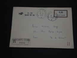 FRANCE - Enveloppe En Recommandée Ambulants Des Cours D'instructions  En 1970 - A Voir - L 753 - Corsi Di Istruzione