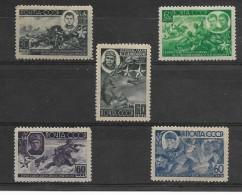 Francobolli Russia Eroi Di Guerra Serie Linguellata 1944 - Usati