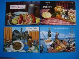LOT  4 CPM  RECETTE DE CUISINE  -   Recettes Diverses - Recipes (cooking)
