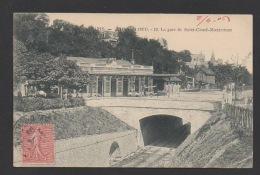 DF / 92 HAUTS DE SEINE / SAINT CLOUD / LA GARE DE SAINT-CLOUD-MONTRETOUT / CIRCULÉE EN 1906 - Saint Cloud
