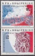 ALBANIA 1989, 200 TH ANNIVERSARY FRENCH REVOLUTION, FRENCH FLAG, GUNS, COMPLETE, MNH SET, GOOD QUALITY, *** - Rivoluzione Francese