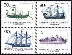 ALBANIA 1989, OLD SAILBOATS, COMPLETE, MNH SET, GOOD QUALITY, *** - Barche