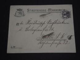 ALLEMAGNE - Enveloppe De Markirch  Pour Berlin En 1918 - A Voir - L 773 - Allemagne