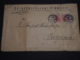 """ALLEMAGNE - Oblitération """" Reserve Division"""" Sur Enveloppe Pour Lutzelstein En 1918 - A Voir - L 774 - Germany"""