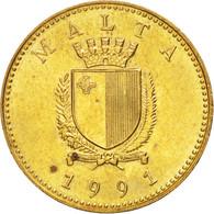 Malte, Cent, 1991, SUP, Nickel-brass, KM:93 - Malte