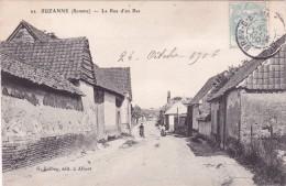 CPA 80 @ SUZANNE Près BRAY Sur SOMME @ La Rue D'en Bas En 1906 - Autres Communes