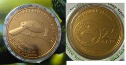 MALAYSIA 2005 2004 25 Cents Coin Card Birds Nordic Gold BU Coin Card Straw Headed Bulbul - Malaysia