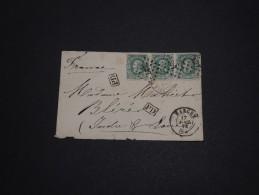 BELGIQUE - Enveloppe De Marche Pour La France En 1872 , Affranchissement Plaisant - A Voir - L 791 - 1869-1883 Leopold II