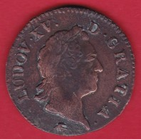 France Louis XV - Sol à La Vieille Tête 1774 D - Lyon - TB - 987-1789 Royal
