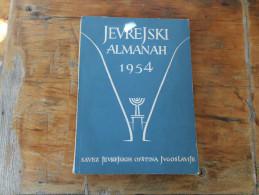 Judaica Jevrejski Almanah 1954 Jewish Almanac 1954 - Slawische Sprachen