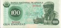 VF NOTA DE ANGOLA 100 KWUANZAS 14 AGOSTO 1979 UNC - Angola