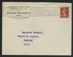 MARCOPHILIE - PARIS - LIBRAIRIE NOUVELLE ARTHUR ROUSSEAU - EDITEUR - RUE DANTON - Marcophilie (Lettres)