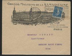 MARCOPHILIE - PARIS - GRANDS MAGASINS DE LA SAMARITAINE - Marcophilie (Lettres)