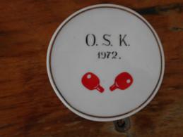 Porcelain Hungary  O.S.K. 1972 Hollohaza - Table Tennis