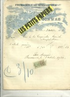 52 - Haute-marne - BREUVANNES - Facture SCHWAB - Fromagerie – 1922 - REF 238 - France