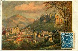 Cpa AUTRICHE - SALZBURG - Sommerabend - Timbre - Autriche
