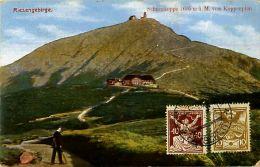 Cpa TCHEQUIE - RIESENGEBIRGE - Schneekoppe - Timbres - Tchéquie