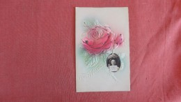 Embossed  Rose Best Wishes-- With Small Real Photo Insert Ref 2271 - Non Classés