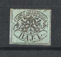 ESTADOS PONTIFICIOS 1852-64 ESCUDO USADO - Estados Pontificados