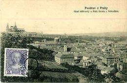 Cpa Pozdrav Z. PRAHY - Hrad Kralovsky A Mala Strana Z Nebiozizku - Tschechische Republik
