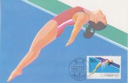 China P.R. 1992 Olympic Games / Diving 1v Maxicard (F5342) - 1949 - ... Volksrepubliek