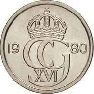 Suède, Carl XVI Gustaf, 10 Öre, 1980, SPL, Copper-nickel, KM:850 - Suède