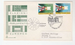 1979  ITALY FDC EUROPEAN Parliament ELECTION  Stamps Cover With SPECIAL CACHET Eec European Community - European Community