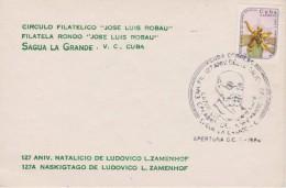 Cuba - Special Cancellation 1986 - 127 Anniversary Birthday Zamenhof - First Day Cancellation - Kubo 127 Naskigxtago Zam - Cuba