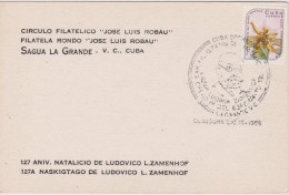 Cuba - Special Cancellation 1986 - 127 Anniversary Birthday Zamenhof - Last Day Cancellation - Kubo 127 Naskigxtago Zam - Cuba
