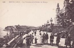 MONACO---MONTE-CARLO ---les Terrasses Et Le Rocher De Monaco--voir  2 Scans - Terraces