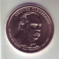 Stati Uniti 2012 - 1 Dollaro Cleveland 2° Mandato - Zecca P - Federal Issues