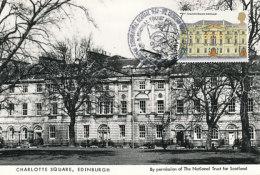 D24271 CARTE MAXIMUM CARD 1975 GREAT BRITAIN - CHARLOTTE SQUARE EDINBURGH CP ORIGINAL - Architecture
