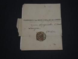 FRANCE - Type Sage Seul Sur Bande Journal D ' Annonay  Pour Langeac En 1886 - A Voir - L 834 - 1877-1920: Période Semi Moderne