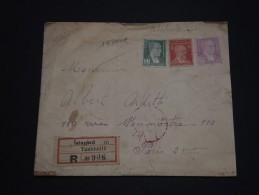 TURQUIE - Enveloppe En Recommandée De Istanbul  Pour Paris , Affranchissement Tricolore - A Voir - L 840 - 1921-... Republiek