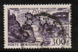 FRANCE   Scott # C 25 VF USED PERFIN - Airmail