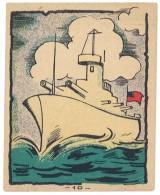 Chromo Banania (n° 10 ) - Bateau De Guerre - Banania