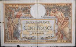 FRANCE 1 BILLET De BANQUE De Cent Francs - Luc Olivier Merson - N° : CE. 13=4=1933. CE . En L'Etat - - 100 F 1908-1939 ''Luc Olivier Merson''