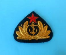 YUGOSLAVIA NAVY Vintage Embroidered Hat Cap Badge JNA Army ** Marine Kriegsmarine Marina Militare Fuerzas Navales Navale - Navy